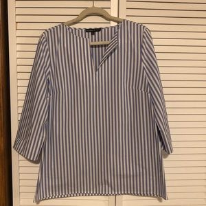 Preston & York Blue & White Striped Tunic Sz M